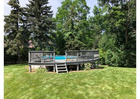 24' Above ground pool complete with heater and Trex Deck - buyer take all