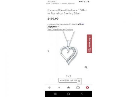 Kay Jewelers diamond heart pendant